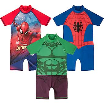 Marvel Comics Official Gift Toddler Boys Kids Swim Surf Suit