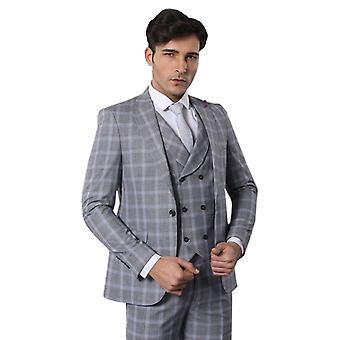 Double breasted grey suit | wessi