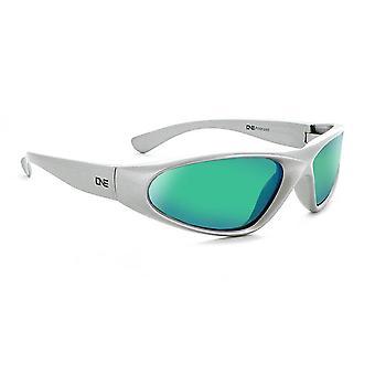 Kids skimmer - black / silver polarized sports wrap sunglasses