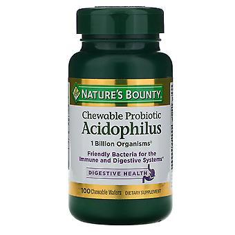 Nature's Bounty, Chewable Probiotic Acidophilus, Natural Strawberry Flavor, 100
