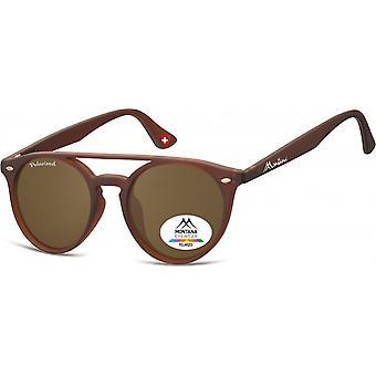 Sunglasses Unisex panto brown (MP49)