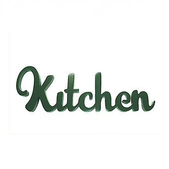 Rebecca Meubels Geschreven Hout Woord Decoratieve Keuken Shabby Green 14x40x1.2