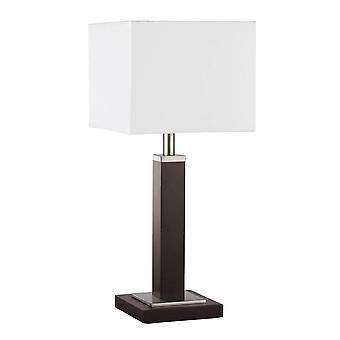 Searchlight Waverley - 1 Light Table Lamp Satin Silver, Wood, E14
