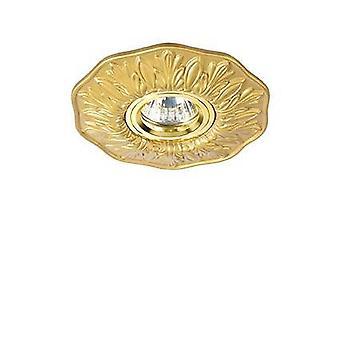 1 Light Recessed Spotlight Brass, GU10