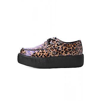 TUK Shoes Patent Leopard Vegan Viva High Sole Creeper