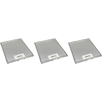 3 x Universal Cooker Hood Metal Grease Filter 248mm x 222mm