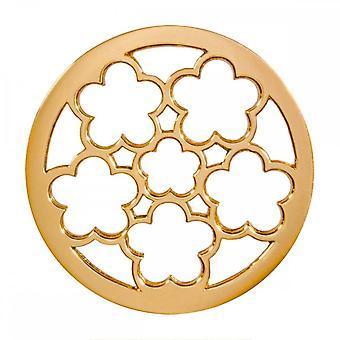Nikki Lissoni Marroquino Sonhos Médio Ouro Banhado Coin C1388GM