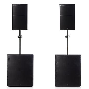 Big gig rig 7 - passive 3000w rms 12 tops and 18 plywood subwoofer pa system