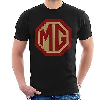 MG Red And Gold Logo British Motor Heritage Men's T-Shirt