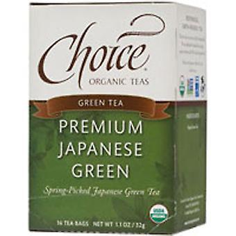 Choice Organic Teas Premium Japanese Green Tea, 16 BAGS