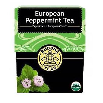 Buddha Teas Organic European Peppermint Tea, 18 Bags