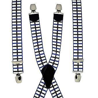 Ties Planeta Kroaz Du Black Cross, Bandera de Brittany Men's Pantalón Braces