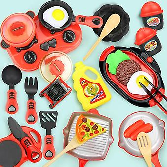 Conjunto de cozinha em miniatura - Pretend Play Food, Cookware, Pot Pan Cooking Play House