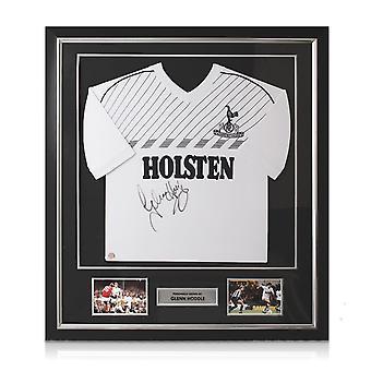 غلين هودل وقع توتنهام هوتسبر 1986 قميص. ديلوكس مؤطرة