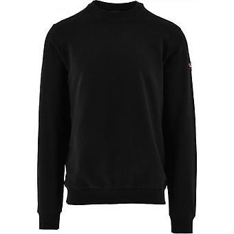 Paul & Shark Black Summer Cotton Fleece Crew Neck Sweatshirt