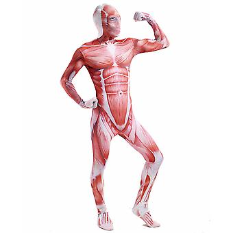 AltSkin Adult/Kids Full Body Stretch Fabric Zentai Suit - Zippered Back One Piece Stretch Suit Costume for Halloween - Muscle