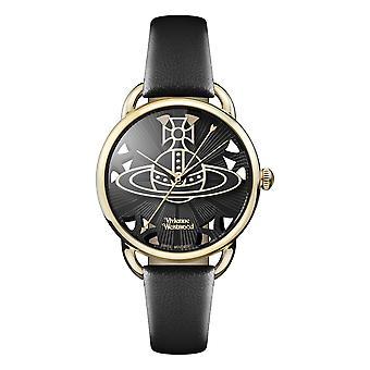 Vivienne Westwood Leadenhall Black Leather Strap Ladies Watch VV163BKBK