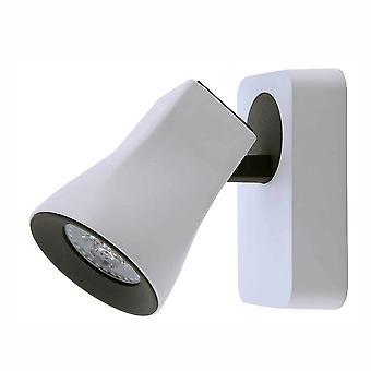 Nowoczesne reflektory biały, szary 1 światło z piaszczystą bielą, sand grey shade LED, GU10