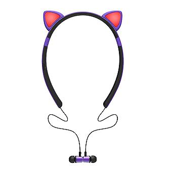 Cat style bluetooth headphones