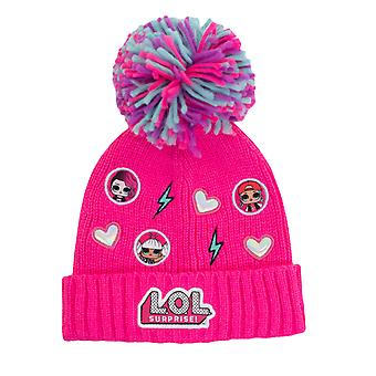 LOL Surprise Character Icons Girls Beanie with Pom | Official Merchandise