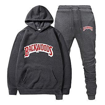 Men's Set Fleece Hoodie Pant, Thick Warm Tracksuit, Sportswear