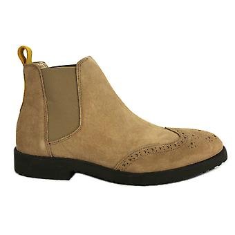 Hush Puppies Scooter Mens Chaussures Chelsea Boots Cuir Large Taupe H1410535B B58C