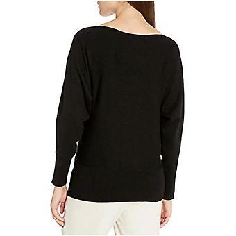 العلامة التجارية - Lark & Ro Women & apos;s Long Sleeve Bateau Neck سترة, أسود, L