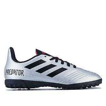 Boy's adidas Children Predator 19.4 TF Football Boots in Silver