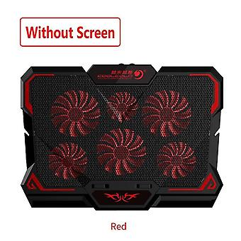Laptop Cooler 6 Fans Laptop Cooling Pad 2 Usb Port With Led Screen 2600rpm