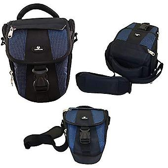 Case4life black/blue dslr slr camera bag case for fujifilm finepix hs, s***, sl, x series inc gfx 50
