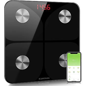 KAMTRON Scales for Body Weight - Body Composition Analyzer Monitor Bathroom Body Fat Scales