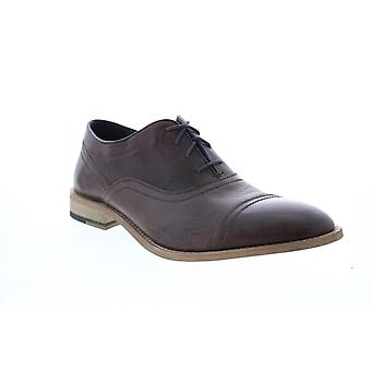 Andrew Marc Henry  Mens Brown Synthetic Cap Toe Oxfords & Lace Ups Shoes