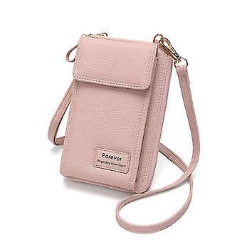 Læder skulderrem taske & mobil, kortholdere, tegnebog håndtaske