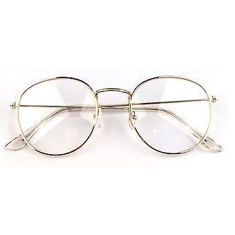 Neue Frau Gläser optische Rahmen Metall Runde Gläser Rahmen klar Objektiv Glas