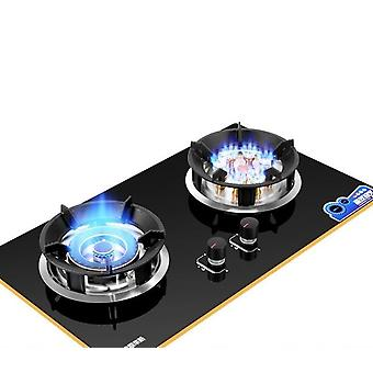 Double-fire Embedded And Commercial 2-pots Hobs, Dual-cooker Stove For Home