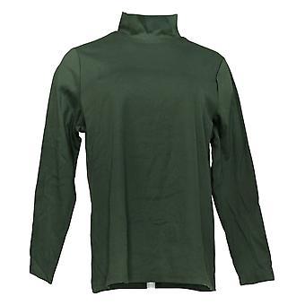 Denim & Co. Women's Top Mock Neck Long Sleeve Green A385295