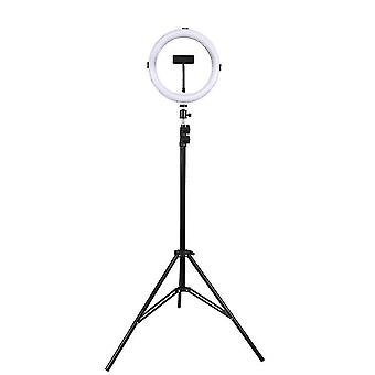 "13""led Ring Light Selfie Dimmable Circle Photography Lamper med stativ Stand & Telefon Holder Extendable RGB"