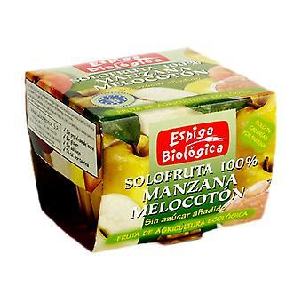 Organic Apple Peach Jam 2 units of 100g