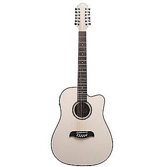Oscar schmidt 6 od312 12-string acoustic electric guitar. trans, transparent green (od312cetgr-a)