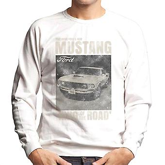 Ford Mustang Test Drive Fords New King Of The Road Men's Sweatshirt