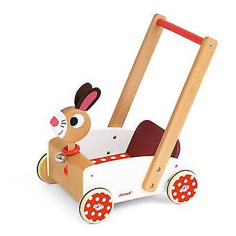 Janod crazy cart rabbit