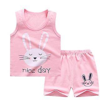 Set de ropa de verano con camiseta y pantalones cortos (set-2)