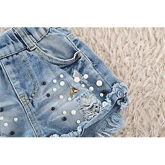 Girls' Pearl Jeans Summer Hot Pant