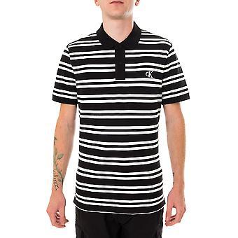 Calvin Klein Stripe Polo Polo masculino j30j315693.bae