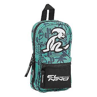 Backpack Pencil Case El Niño Beach Party Black Green (33 Pieces)