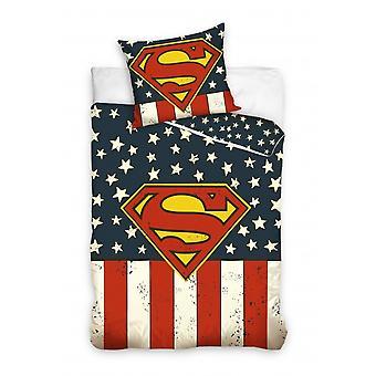 duvet cover Superman flag 140 x 200 cm