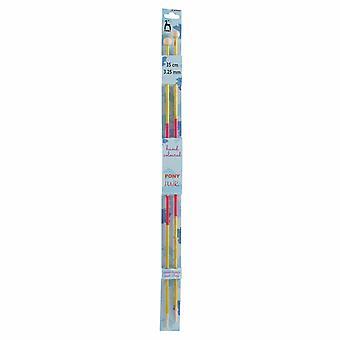Ponin neuletappit: Yksipäiset: Käsin värillinen: Flair: 35cm x 3.25mm
