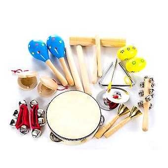 Musical Percussion Instrument Triangle Crotales Castanets Drum Tambourine