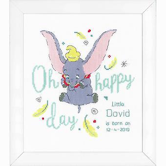 Vervaco telt korssting kit: Disney: Dumbo oh happy day