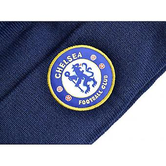Chelsea FC Knitted Crest Turn Up Hat
